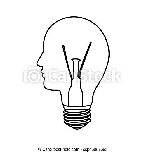 Person Bulb Light Idea