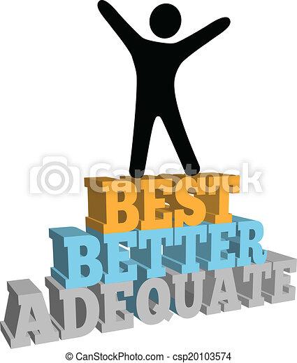 Person celebrate best self improvement - csp20103574