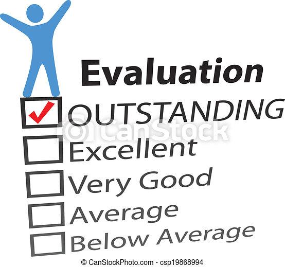 Person celebrate excellent HR evaluation - csp19868994