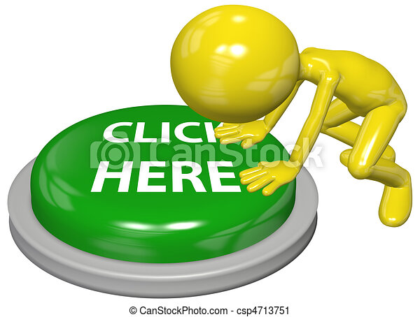 Person push CLICK HERE website link button - csp4713751