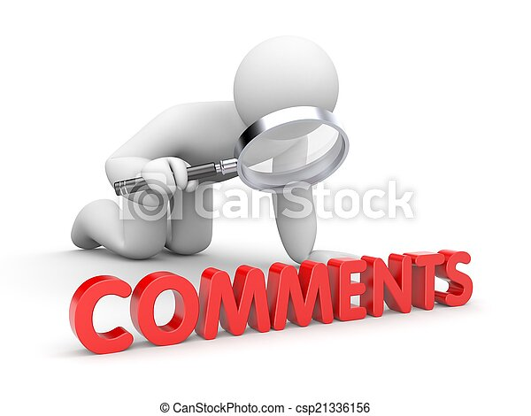 Person reads comments - csp21336156