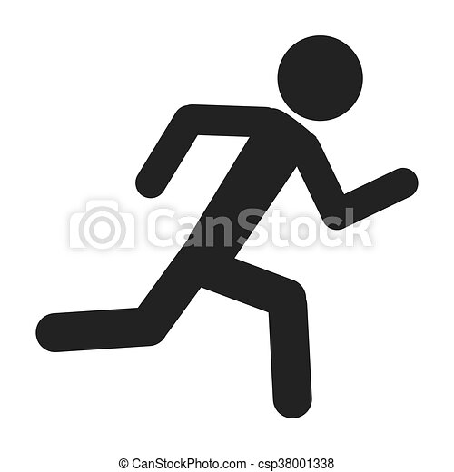 person running silhouette simple silhouette of person vectors rh canstockphoto com guy running clipart Girl Running Clip Art