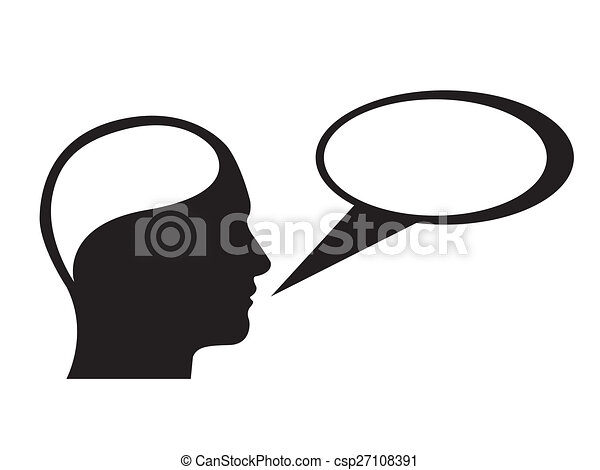 Person Speaking Silhouette Person Thinking Speaking