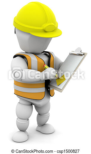 Person with clipboard - csp1500827
