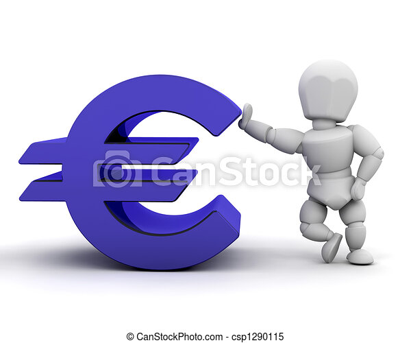 Person with Euro sign - csp1290115
