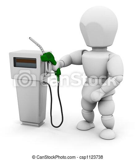 Person with fuel pump - csp1123738