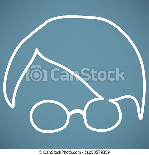 Person with glasses - csp30579359