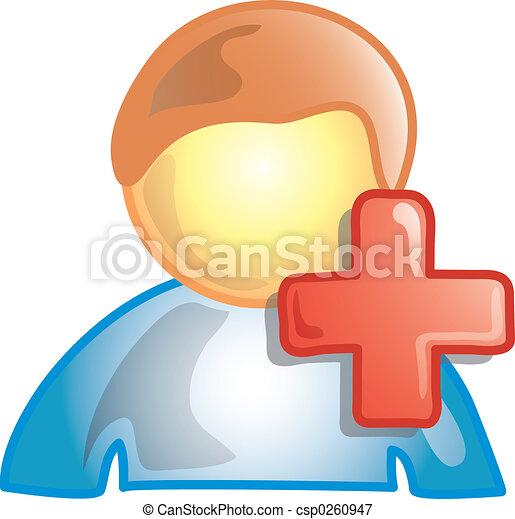 persona, aggiungere, icona - csp0260947