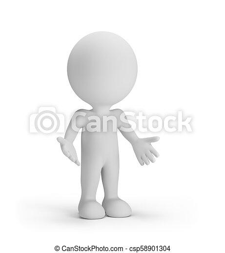 La persona 3D está confundida - csp58901304
