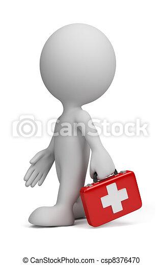 Tercera persona, doctor - csp8376470