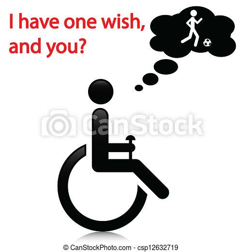 persona, gli utenti disabili - csp12632719