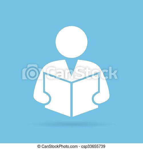 persona, libro de lectura - csp33655739