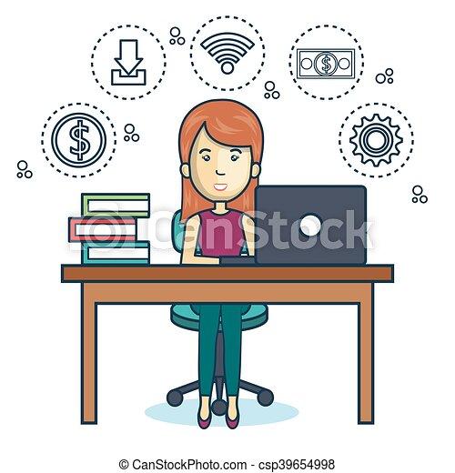 Persona oficina de trabajo icono oficina de trabajo for Busco trabajo en oficina