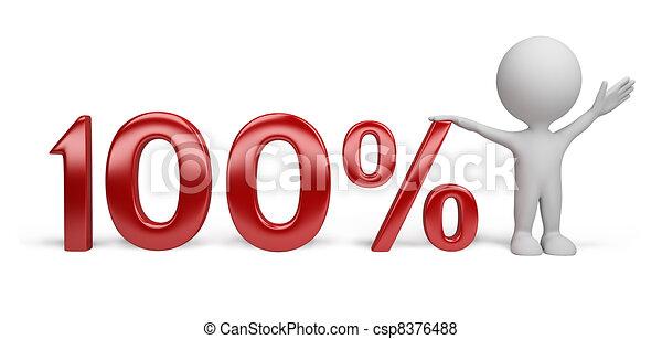 persona, -, percento, 3d - csp8376488