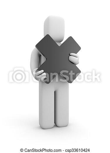 persona, presa, croce - csp33610424