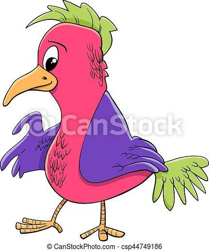 personagem, pássaro, ilustração, caricatura - csp44749186