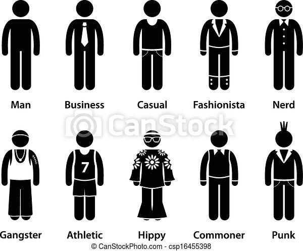 personagem, pessoas, tipo, human, homem - csp16455398