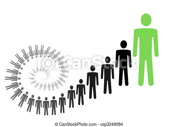 personal / business growth conceptual illustration - csp3249084