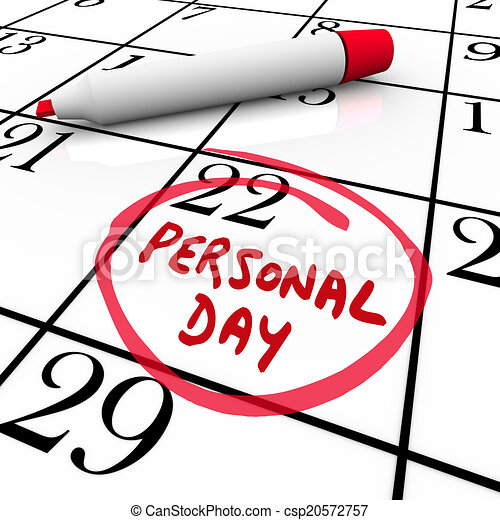 personal day vacation time off calendar circled date stock rh canstockphoto com
