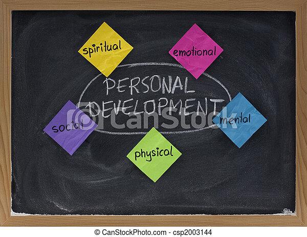 Concepto de desarrollo personal en la pizarra - csp2003144