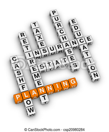 personal financial planning orange white crossword puzzles series