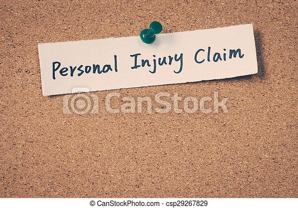 Reclama de lesiones personales - csp29267829