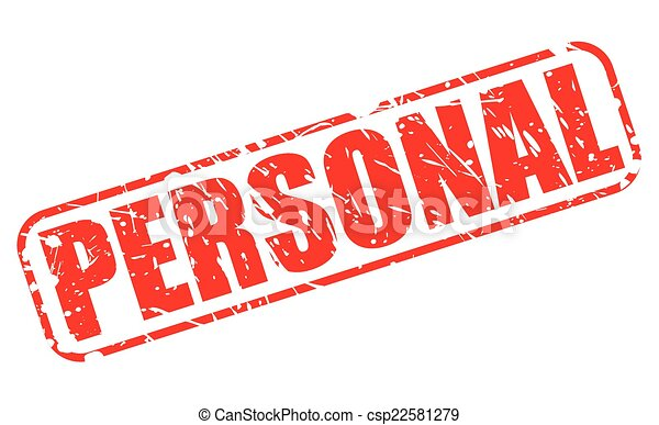 Personal red stamp text - csp22581279