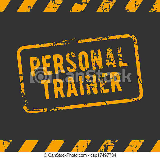 Personal trainer rubber stamp - csp17497734