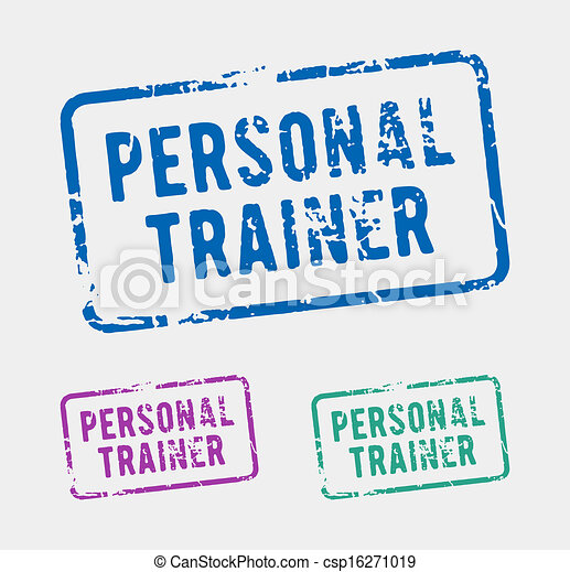 Personal trainer rubber stamp - csp16271019