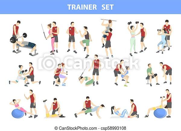 Personal trainer set - csp58993108
