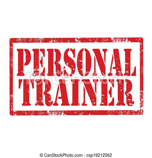 Personal Trainer-stamp - csp19212562