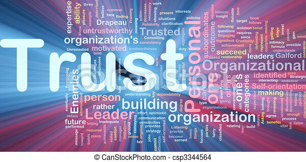 Personal trust background concept glowing - csp3344564