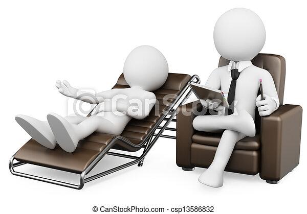 Blancos 3D. Psicólogo - csp13586832