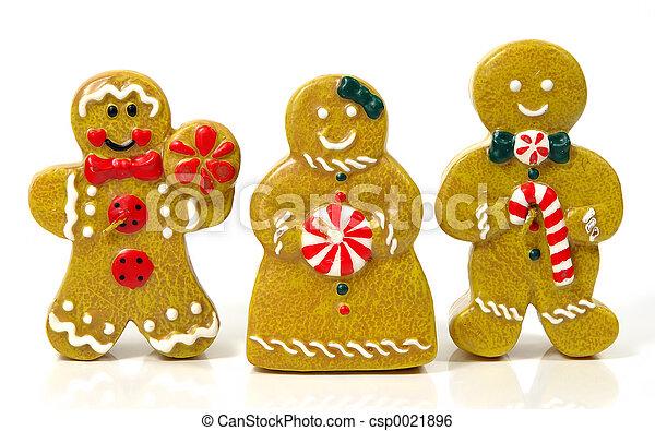 personas de pan de jengibre - csp0021896