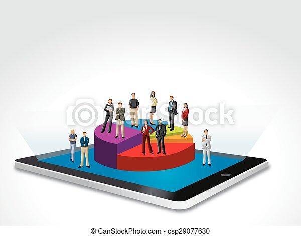 Gente de negocios en gráfico - csp29077630