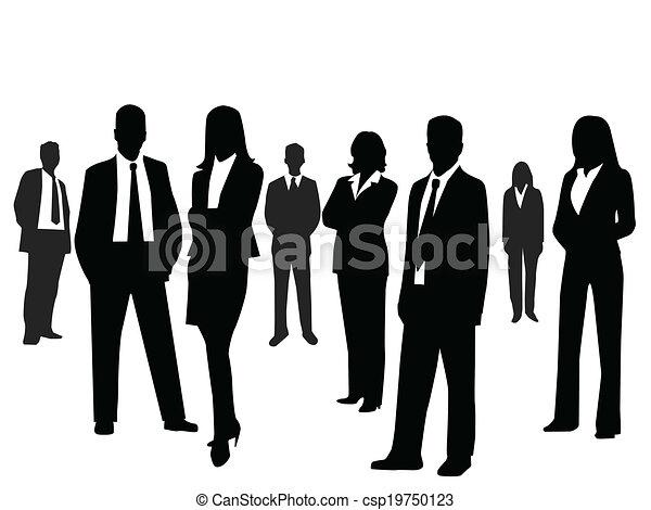 Gente de negocios - csp19750123