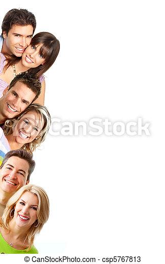 Sonriendo a la gente - csp5767813