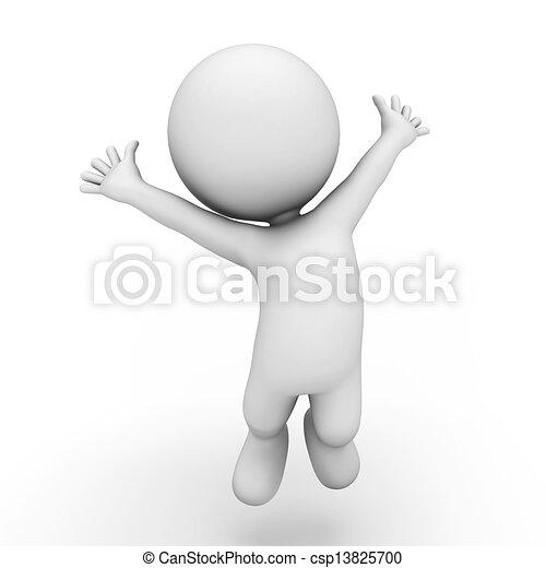 persone, 3d, bianco - csp13825700