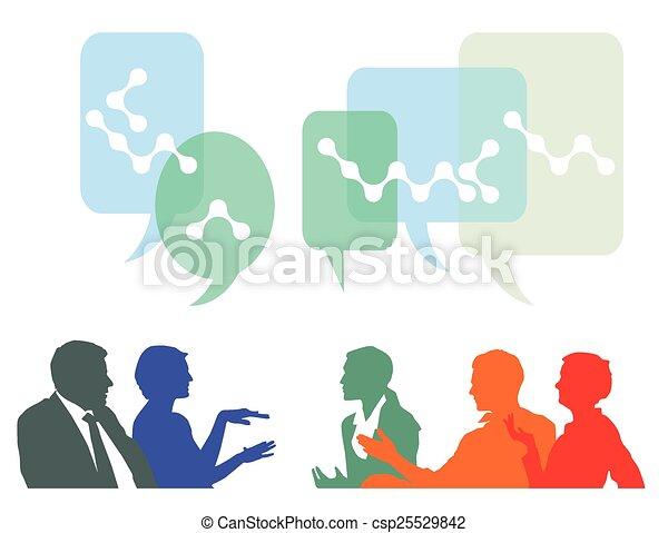 persone, idee, discutere, scambio - csp25529842