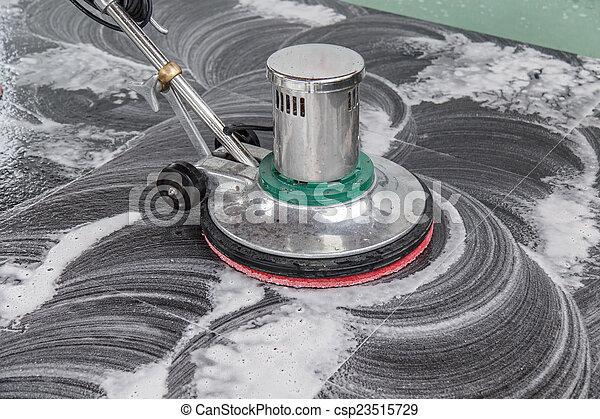 persone, pavimento, macchina, nero, pulizia, granito, chemic, tailandese - csp23515729