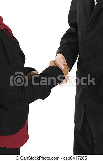 persone, tremante, mani affari - csp0417265