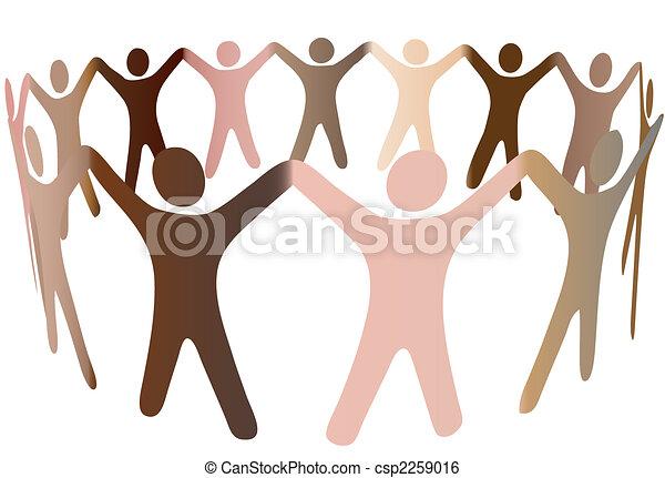 persone umane, diverso, toni, pelle, anello, miscela - csp2259016