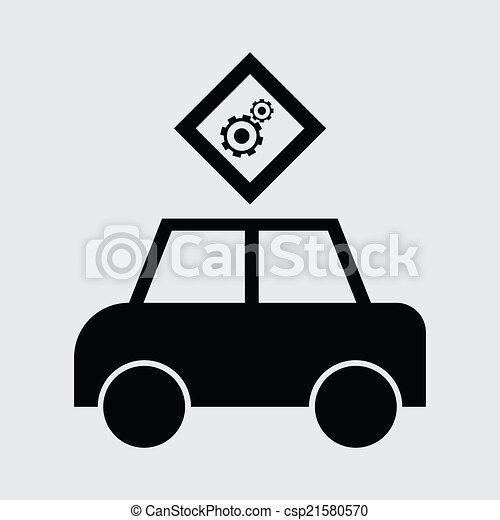 personenauto, pictogram - csp21580570
