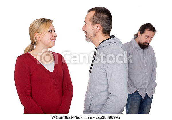 personerna, bak, mobbing, två, offer - csp38396995