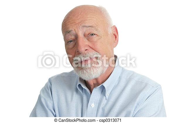personne âgée homme, intelligent - csp0313071
