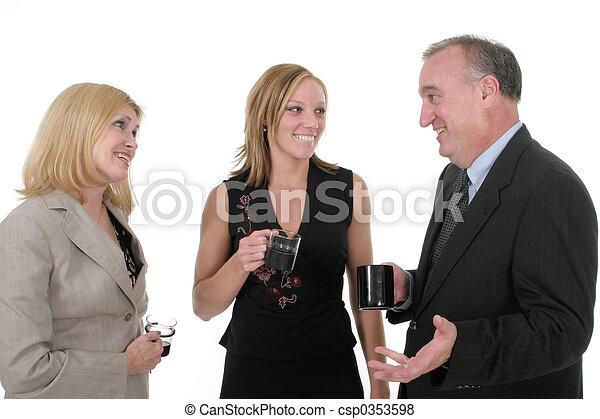 personne, 3, trois, equipe affaires - csp0353598