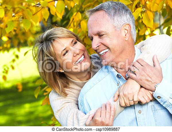 personne agee, couple., heureux - csp10989887