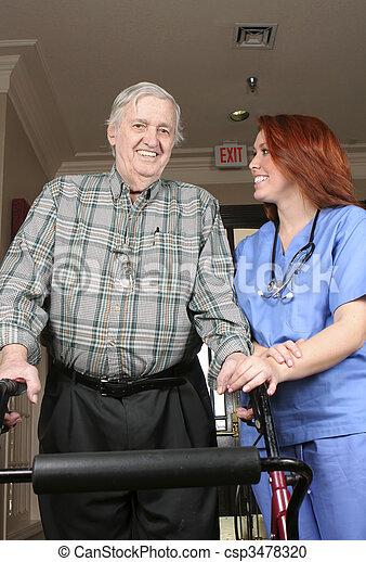 personne agee, infirmière - csp3478320