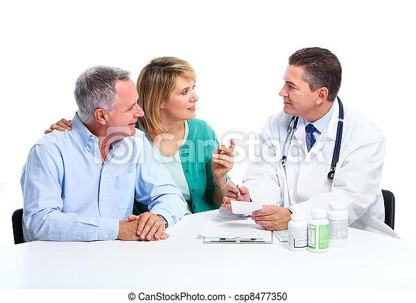personne agee, patient, couple., docteur - csp8477350