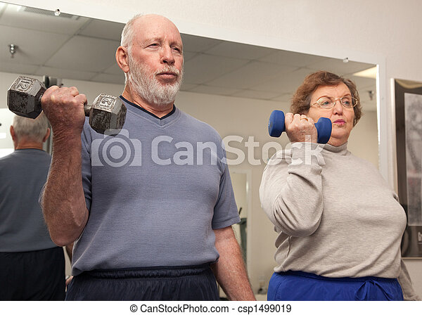 personne agee, travail, couple, dehors - csp1499019